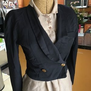 Black vintage crop jacket